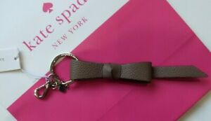 KATE SPADE Keyring / Key Chain Brown Leather BOW