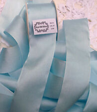 "100% PURE SILK RIBBON~PASTEL/BLUE~ COLOR  1 1/2""[36MM] WIDE  5 YARDS"