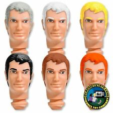 Complete Set of 6 Custom Clark 8 inch Roto Molded Heads for Mego figures