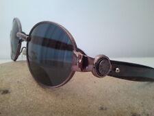 Gianfranco Ferrè occhiale da sole donna ovale metallo asta in plastica marrone