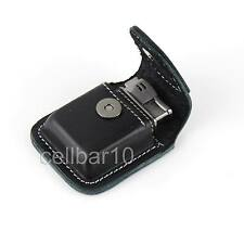 Black Geniune Leather Clip-On Lighter Sheath Pouch/Case/Holder 60mm x35mm x14mm