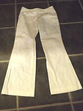 """Ladies M&s Bianco Vita Bassa Pantaloni UK 10 EUR 36 Girovita 30"""" 76cm"""