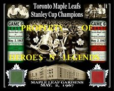JOHNNY BOWER TORONTO MAY 2 1967 STANLEY CUP CHAMPS PHOTO MAPLE LEAF GARDENS SEAT