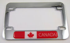 Canada flag Motorcycle Bike ABS Chrome Plated License Plate Frame Emblem