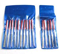 Bundle 10pc 100mm + 5pc 80mm Mini Diamond Needle Files Set Ceramics Tile Glass