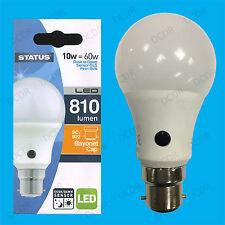 10W = 60W LED GLS Dusk Till Dawn Sensor Security Night Light Bulb BC B22 Lamp