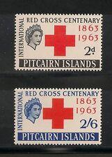 Pitcairn Islands #36-37 VF MNH - 1963 2p to 2sh6p Red Cross - SCV $14.10