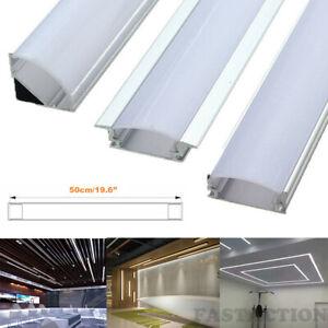 "50CM/19.6"" 1-20Pcs Led Aluminum Profile Channel Holder U/V/W Shape for LED Strip"