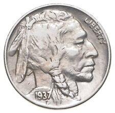 FULL HORN - High Grade - TOUGH - 1937-D Buffalo Nickel - Sharp Coin! *603