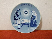 "Vintage ""Porsgrund"" 1971 ""Child Is Born"" Christmas 7"" Collector Plate."""