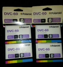 2 NIB 2 pack (4 v.cassette total)- Polaroid Dvc-60 Mini Dv Digital Videocassette