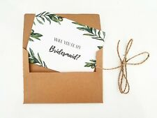 Personalised Will You Be My Bridesmaid Card / Invitation Wedding