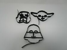 STAR WARS Williams Sonoma Pancake Molds Yoda, Darth Vader, Stormtrooper