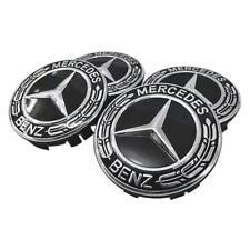 4PCS 75mm/3 Inch Mercedes Benz Black Wheel Center Caps Alloy Rims