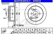 ATE Juego de 2 discos freno 262mm para MERCEDES SPRINTER KIA 24.0110-0312.1