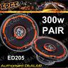 """Edge ED205 5.25"""" inch 13cm 4-Way 300w Car Door Coaxial Speakers Set With Grills"""