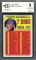 1969 topps #582a CHECKLIST 7 TONY OLIVA minnesota twins BGS BCCG 9