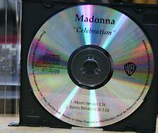 MADONNA Celebration RARE PROMO CD [2 TRACKS] Benny Benassi