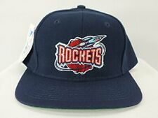 90s VINTAGE HOUSTON ROCKETS NBA SNAPBACK HAT NAVY CAP BY T.E.I NEW!