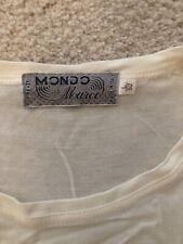 MONDO DI MARCO Silk T-shirt 52 Vintage Never Worn