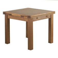 100 Original Rustic Solid Oak 3ft X 3ft Small 4-6 Seater Extending Dining Table