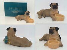 Leonardo Collection Fawn Pug With Bowl Ornament Dog Figure Bnib