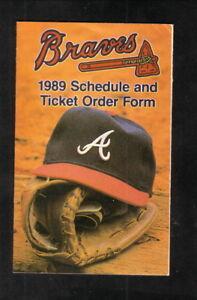 Atlanta Braves--1989 Pocket Schedule--Canon