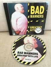 BAD MANNERS CD Buster Bloodvessel Greatest Hits Live Recording Picture Disc SKA