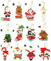 Christmas Decoration Tree Ornament Hanging Xmas Décor Santa Reindeer Angel A