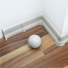 w. FREE screws 62mm x 23mm PVC 2.5m WHITE SKIRTING BOARD /& ACCESSORIES