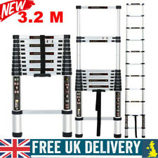 3.2M Telescopic Ladder Aluminum Heavy Duty Extension Extendable Ladders Portable