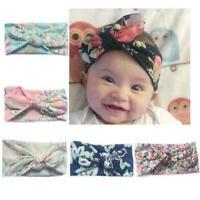 Baby Toddler Girls Kids Bunny Rabbit Bow Knot Turban Headwrap Headband U5X0