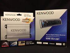 KENWOOD BOAT MARINE RADIO BLUE TOOTH 400 WATT 4 CHANEL AMP SPEAKER WOOFER KITS