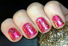NEW! Nicole By OPI nail polish lacquer KISSED AT MIDNIGHT romantic gold glitter