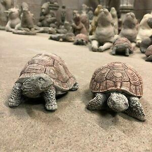 Tortoise garden ornaments X 2 ,concrete stone statue tortoises sculptures Greatd
