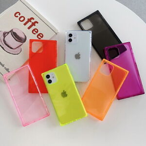 Shockproof Square Clear Soft Case Cover For iPhone 13 12 Pro Max 11 XR X 8 Plus