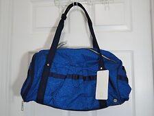 NWT Lululemon Run Ways Duffel Miss Mosaic Lakeside Blue Hero Gym Yoga Bag Travel