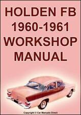 HOLDEN FB Sedan, Station Wagon, Utility, Panel Van 1960-1961 WORKSHOP MANUAL