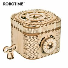 Creative Diy 3D Treasure Box Wooden Puzzle Game Assembly Toy Gift for Children