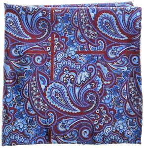 Stefano Ricci Silk Pocket Square Red Paisley 13PS0105 $200