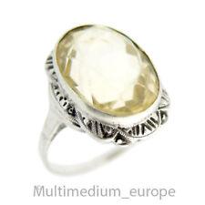 Art Deco 835er Silber Ring Citrin silver ring gold topaz 🌺🌺🌺🌺🌺