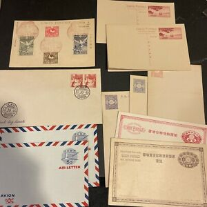 Japan Stamps on Postcards (x10)