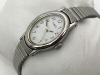 Timex Ladies Watch Silver Tone Metal Stretched Expandable Band Analog Wrist Watc