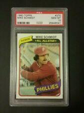 1980 Topps Baseball #270 Mike Schmidt PSA 10