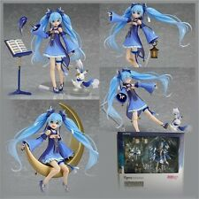 "1pc Anime Hatsune Miku Twinkle Snow Version Figma PVC Figure W/Box 6"" Gift New"