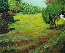 Van Gogh Garden with Weeping Willow Fine Art Print on Paper Poster Home Decor