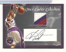 Vince Carter 2004 Fleer Patchworks 3 CLR GJ Patch Auto. Card  055/150 L@@K