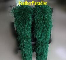 10 ply 2 Yards Long Hunter Green Scarlett Green Ostrich Feather  Boa GA, USA