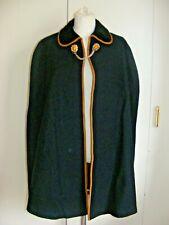 Vintage military cape cloak blue wool velvet collar lions head cloak fasteners M