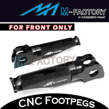Black Billet Front Rider Foot Pegs Buell M2 Cyclone All Year